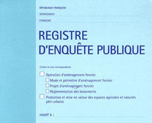 registre enquete publique